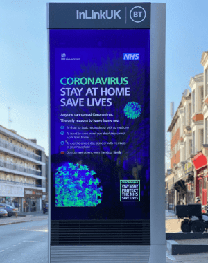 NHS Billboard in city centre